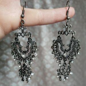 Jewelry - Antiqued silver chandelier earrings